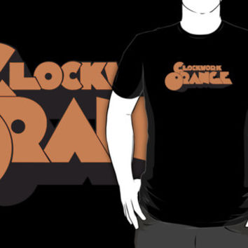 #na Clockwork Orange movie logo black t-shirt