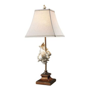 Delray Table Lamp In Conch Shell And Bronze Conch Shell,Bronze