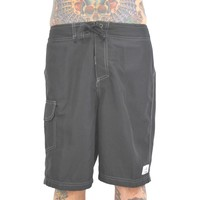 Mens Solid Black Boardshorts