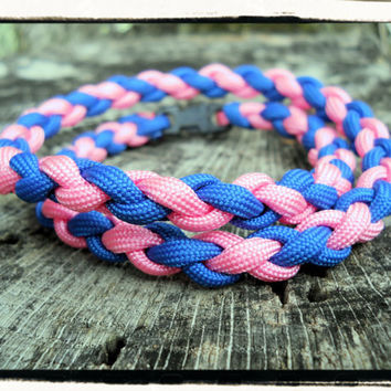 Pink Blue Survival Necklace