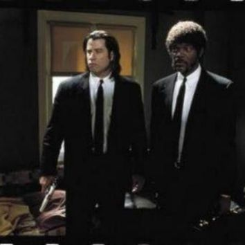 Pulp Fiction Travola Jackson Suits movie poster Sign 8in x 12in