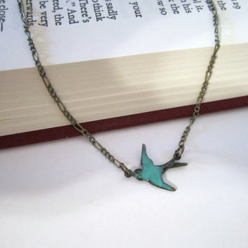 Bird (Swallow) Necklace by 636designs