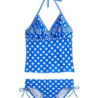 Dot Stripe Tankini Swimsuit