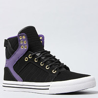 The Skytop Sneaker in Black and Purple Leather