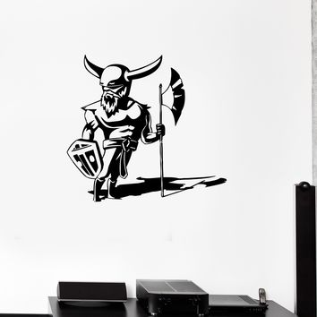 Wall Decal Viking Warrior Armor Knight Gladiator Vinyl Sticker (ed1036)