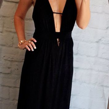Take the Plunge Maxi Dress