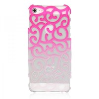 Sexy Color Gradient Hollow Vine iPhone 5 Case - Pink