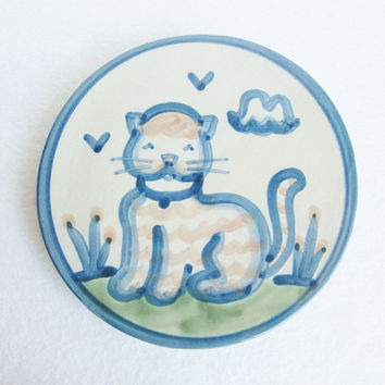 Cat Wall Hanging Trivet by Mary Hadley