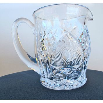 Signed Waterford cut glass pitcher / jug