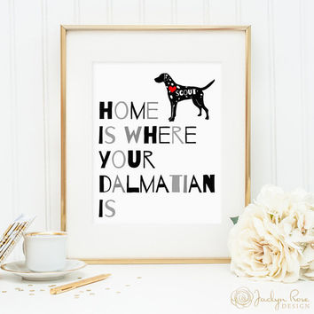 Dalmatian print, dalmatian dog print, personalized dog wall art print for your dalmatian, dalmatian dog wall art, custom gift for dog owners