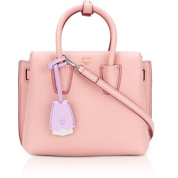 MCM Milla Pink Blush Leather Small Tote Bag