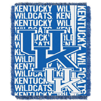 Kentucky Wildcats NCAA Triple Woven Jacquard Throw (Double Play Series) (48x60)