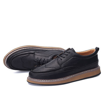 England Style Fashion Casual Low-cut Vintage Men's Shoes = 6450742595