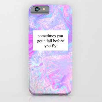 Fall Before You Fly iPhone & iPod Case by Tangerine-Tane