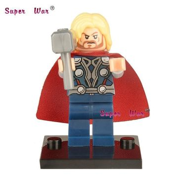 Single Sale star wars superhero marvel avengers Thor building blocks action sets model bricks toys for children