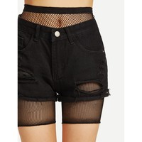 Fishnet Legging Shorts