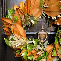 Magnolia and Eucalyptus Wreath
