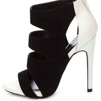 Qupid Color Block Cut-Out Heels by Charlotte Russe