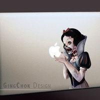 """Zombie Macbook decal, geekery sticker for laptop Macbook, Mac pro and Mac air 11"""", 13"""", 15"""", 17"""""""