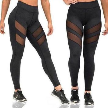 DCCK8H2 ACTIVEWEAR MESH PANEL LEGGINGS