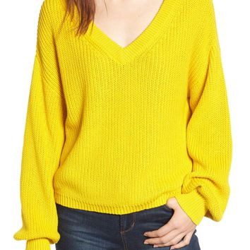 BP. V Neck Cotton Sweater | Nordstrom