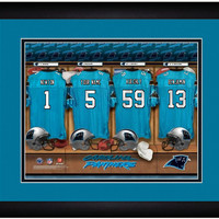 Football-NFL Locker Room Print NFL Carolina Panthers- Personalize and gift