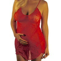 Sexy Plus Pregnancy Lingerie - Meet Me In Red   Mommylicious Maternity