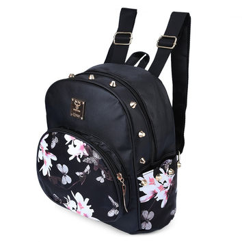 small floral print backpack