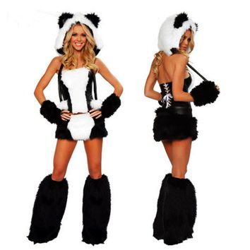 2018 New Sexy plush animal Costume for Adult cat girl Cosplay Dress sexy  clothing Halloween Costumes for WomenKawaii Pokemon go  AT_89_9