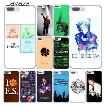 Lavaza Ed sheeran Fashion Hard Skin Phone Cover Case for Apple iPhone 10 X 8 7 6 6s Plus 5 5S SE 5C 4 4S Coque Shell