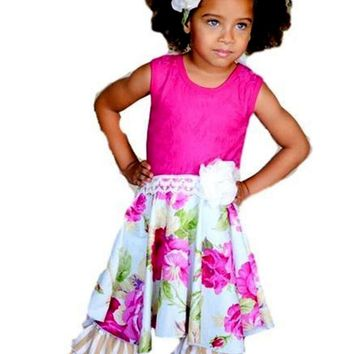 Giggle Moon-Living Water Lilly Dress w/Capri