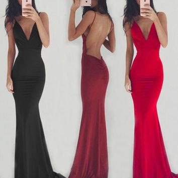 CYAN Summer Dress Women 2018 Sexy Strapless Backless Red Long Party Dress Wedding Bridesmaids Maxi Dresses Female Solid vestidos