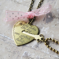 Key to My Heart - Heart and Key Couples Necklace