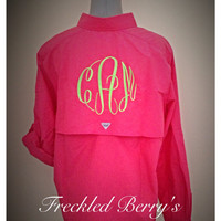 Columbia PFG long sleeve monogrammed shirts