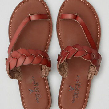 AEO Braided Toe Ring Sandal , Brown