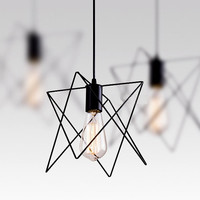 Modern Industrial Style -- Angled Wire Pendant Lamp / Pendant Lighting