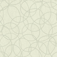 Tangled Rings Wallpaper in Ivory and Metallic design by Studio 465