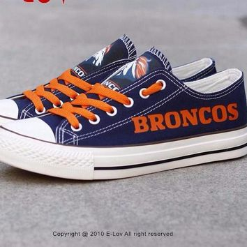 Broncos/Raiders Custom Canvas Shoes