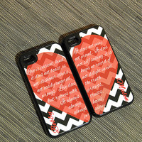 His and Hers Matching Hybrid iPhone Cases - Plastic Shell w/ Rubber Silicone Liner Personalized with your Photo or any of our Designs