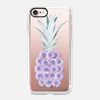 Floral Pineapple Lavender iPhone 7 Case by Lisa Argyropoulos | Casetify