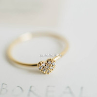 mini cz heart ring,jewelry,ring,unique ring,heart ring,cute ring,cool ring,couple ring,antique ring,vintage ring,cz ring,cz heart