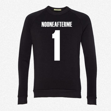 NO ONE  7 fleece crewneck sweatshirt