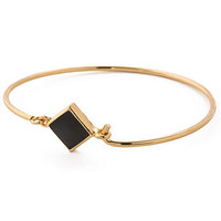 American Apparel - Hinged Wire Bracelet with Black Clasp