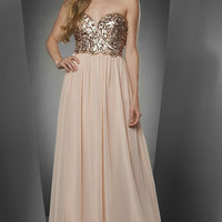Floor Length Strapless A-line Dress