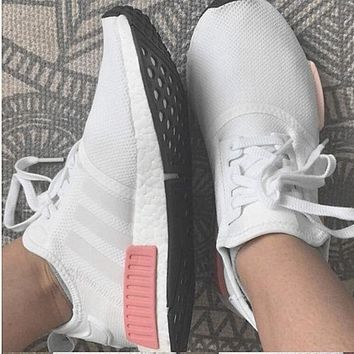PEAPGE2 Beauty Ticks Adidas Nmd Fashion Sneakers Trending Running Sports Shoes White-pink H