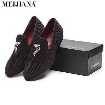 Men's shoes casual shoes fashion men luxury Fox Handmade men shoes luxury gold