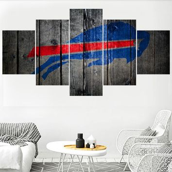 Rugby Football Buffalo Bills Logo Paintings Wall Home Decor Picture Canvas Painting Calligraphy For Living Room Bedroom