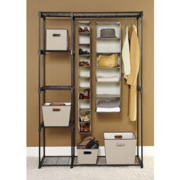 Whitmor Double Rod Closet   Black