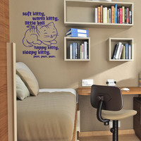 Soft Kitty, Warm Kitty, little ball of fur - Vinyl Wall Art - FREE Shipping - Fun Decal Inspired by The Big Bang Theory