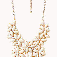 Bold Cluster Faux Stone Necklace